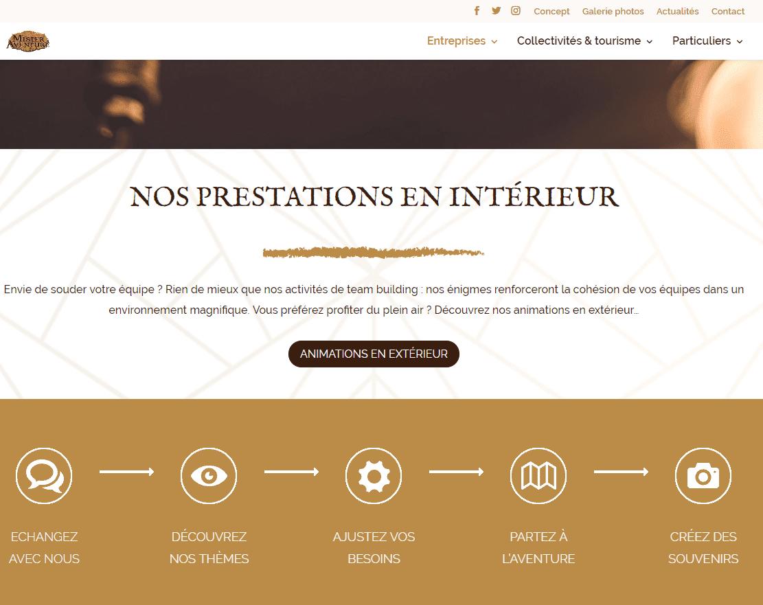site mister aventure par webylo