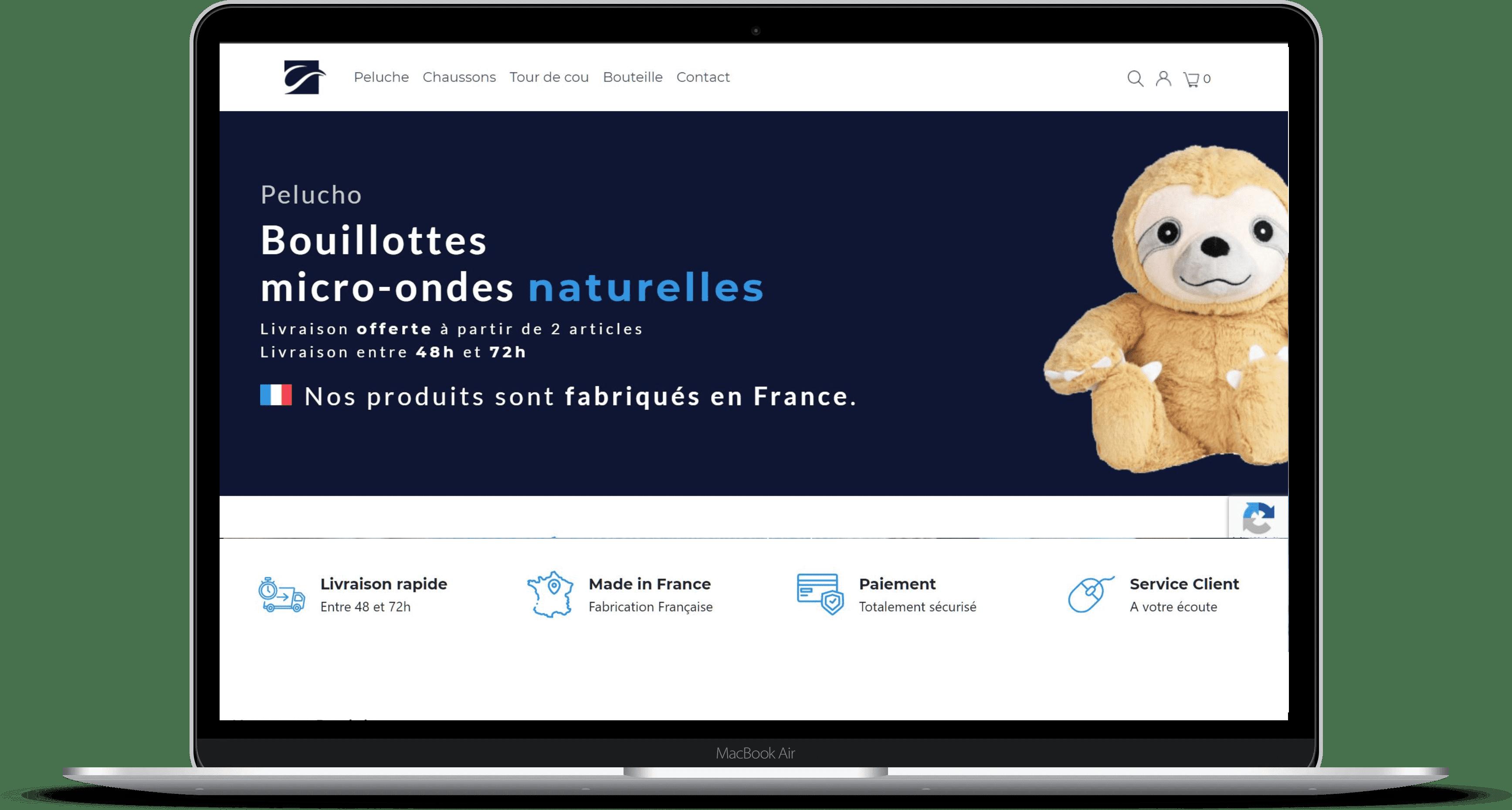 Création de site internet de l'Essuie-tout Français - Webylo